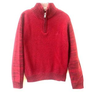 🆕 Nautica Boys neck zip sweater